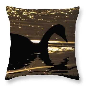 Golden Girl Throw Pillow