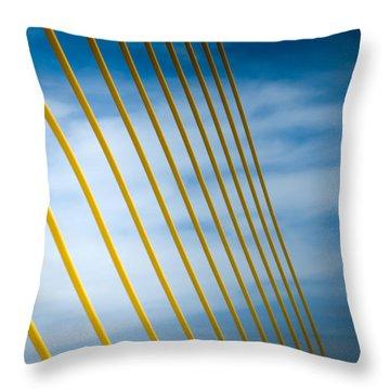 Golden Glow Of Tampa Throw Pillow