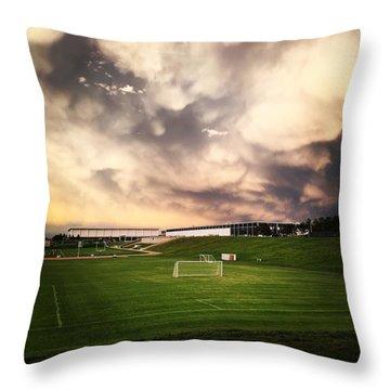 Golden Goal Throw Pillow