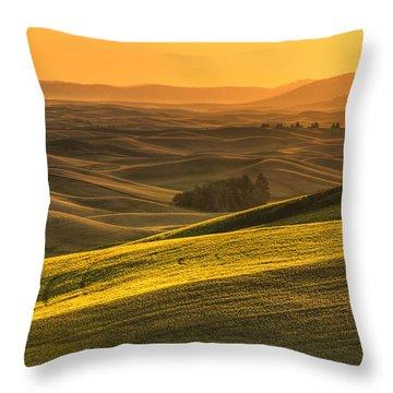 Golden Grains Throw Pillow