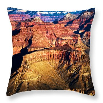 Golden Grand Canyon Throw Pillow