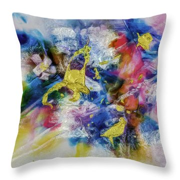 Golden Harvest Painting  Throw Pillow by Don Wright