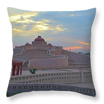 Golden Hour At Ambedkar Park Throw Pillow