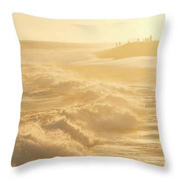 Golden Hour At The Wedge Throw Pillow