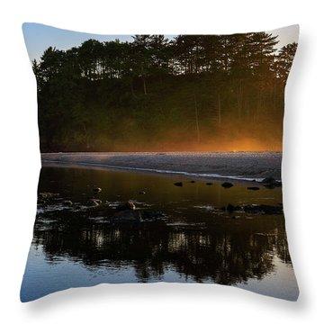 Golden Hour Haze At Proposal Rock Throw Pillow
