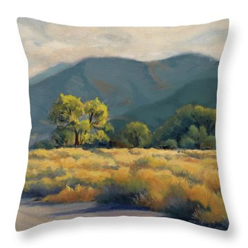 Golden Hour In Owen's Valley Throw Pillow