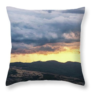 Golden Hour In Volterra Throw Pillow