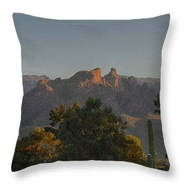 Throw Pillow featuring the photograph Golden Hour On Thimble Peak by Dan McManus