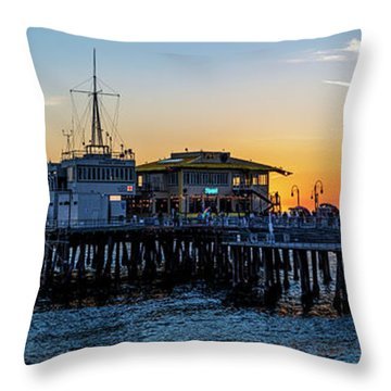 Golden Hour - Panorama Throw Pillow