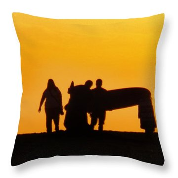 The Golden Hour Throw Pillow by Rhonda Strickland