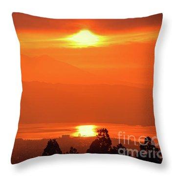 Golden Hour Throw Pillow
