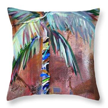 Golden Jasper Palm Throw Pillow by Kristen Abrahamson