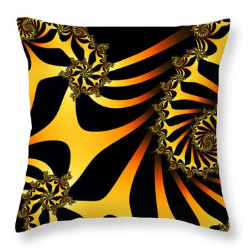 Golden Ladder To Nowhere Throw Pillow