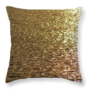 Golden Lake Throw Pillow
