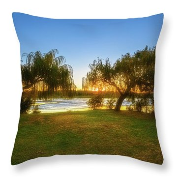 Golden Lake, Yanchep National Park Throw Pillow by Dave Catley
