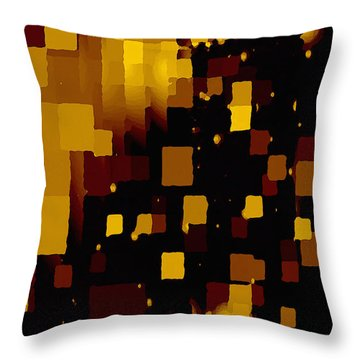 Golden Light And Dark  Throw Pillow
