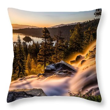 Golden Light By Mike Breshears Throw Pillow