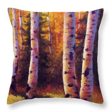 Golden Light Throw Pillow by David G Paul