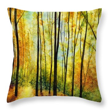 Golden Light Throw Pillow by Hailey E Herrera