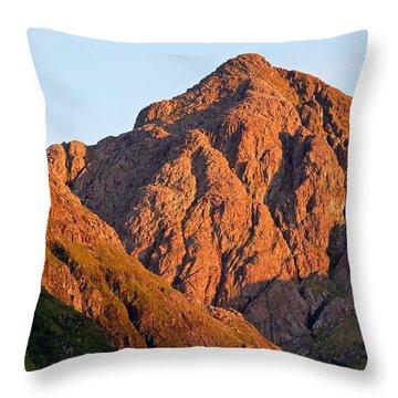 Golden Light Hits Bidean Nam Bian Throw Pillow