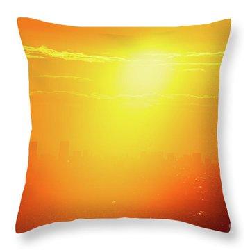 Throw Pillow featuring the photograph Golden Light by Tatsuya Atarashi
