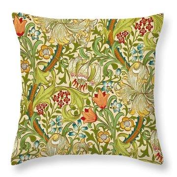 Golden Lily Throw Pillow