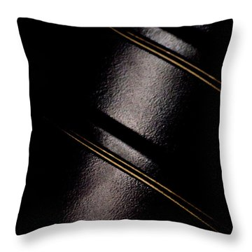 Throw Pillow featuring the photograph Golden Line by Paul Job