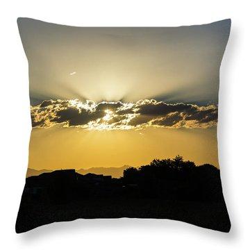 Golden Lining Throw Pillow