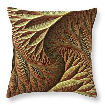 Throw Pillow featuring the digital art Golden by Lyle Hatch