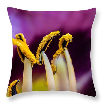 Golden Macro Throw Pillow