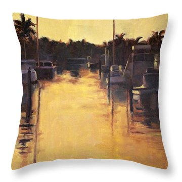 Golden Marina 1 Throw Pillow
