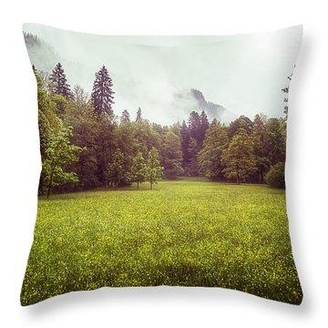 Golden Meadows Throw Pillow