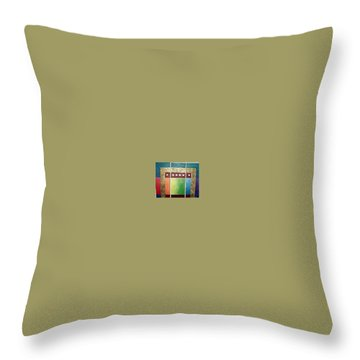 Throw Pillow featuring the painting Golden Mesa by Bernard Goodman