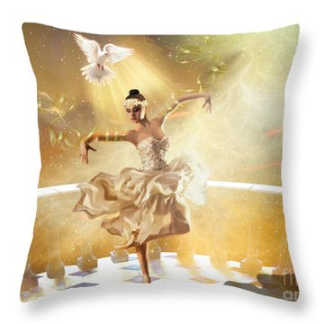 Golden Moments Throw Pillow