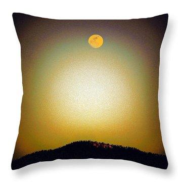 Golden Moon Throw Pillow by Joseph Frank Baraba