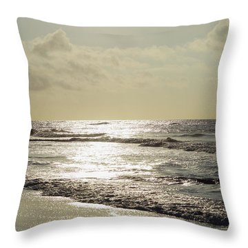 Golden Morning At Folly Throw Pillow
