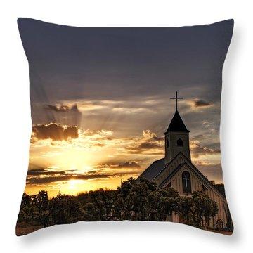 Golden Morning Light  Throw Pillow by Saija  Lehtonen