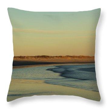 Golden Morning On Rhode Island Coast Throw Pillow