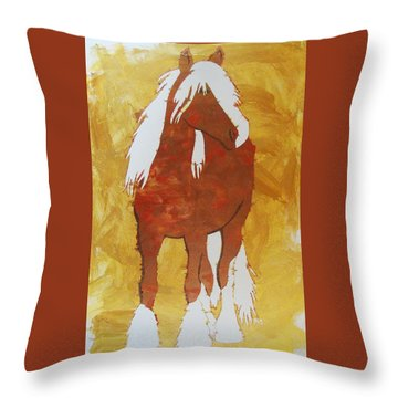 Throw Pillow featuring the painting Golden Morning by Candace Shrope