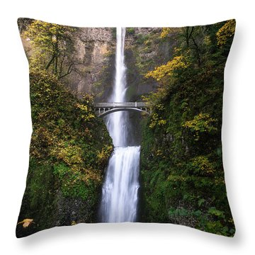 Golden Multnomah Throw Pillow by Bjorn Burton