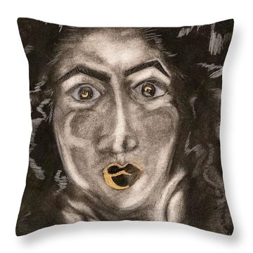 Gold N Natural Throw Pillow