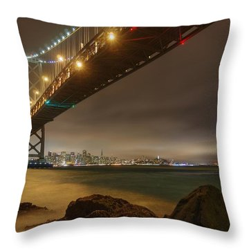 Golden Night Over The City Throw Pillow