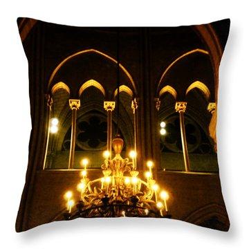 Golden Notre Dame Throw Pillow
