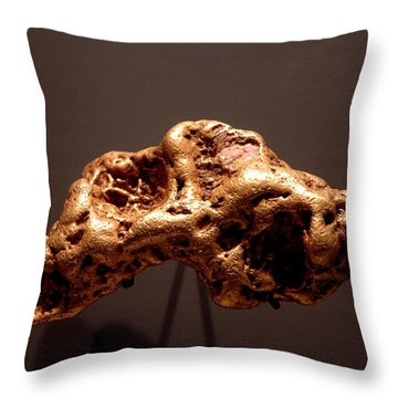 Golden Nugget Throw Pillow by LeeAnn McLaneGoetz McLaneGoetzStudioLLCcom