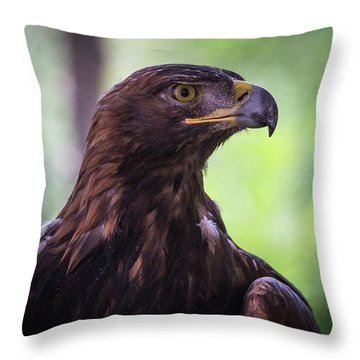 Golden One Throw Pillow