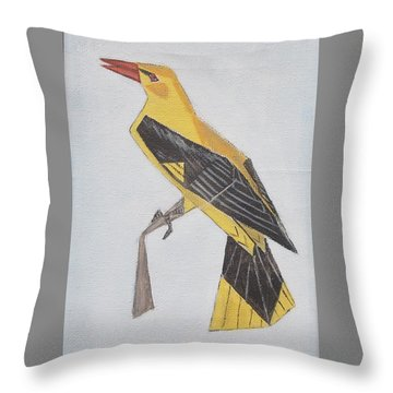 Golden Oriole Throw Pillow