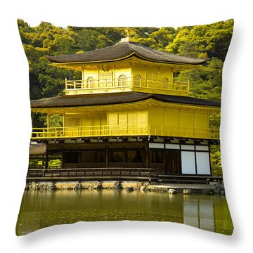 Golden Palace Throw Pillow by Sebastian Musial