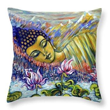 Golden Peace Throw Pillow