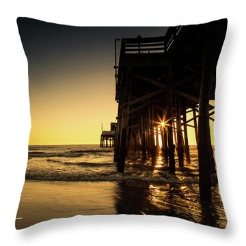 Golden Pier  Throw Pillow