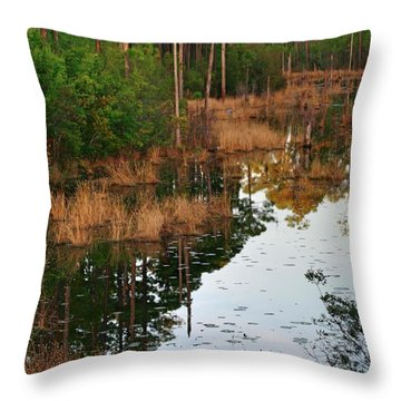 Golden Pond Throw Pillow